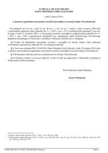 UCHWAŁA NR XXVI/206/2016 RADY MIEJSKIEJ GÓRY KALWARII z dnia 2 marca 2016 r. w sprawie regulaminu utrzymania czystości i porządku na terenie Gminy Góra Kalwaria