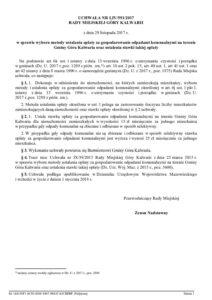 UCHWAŁA NR LIV/591/2017 RADY MIEJSKIEJ GÓRY KALWARII z dnia 29 listopada 2017 r. w sprawie wyboru metody ustalania opłaty za gospodarowanie odpadami komunalnymi na terenie Gminy Góra Kalwaria oraz ustalenia stawki takiej opłaty