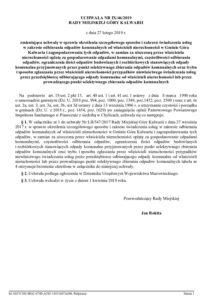 UCHWAŁA NR IX/46/2019 RADY MIEJSKIEJ GÓRY KALWARII z dnia 27 lutego 2019 r. zmieniająca uchwałę w sprawie określenia szczegółowego sposobu i zakresu świadczenia usług w zakresie odbierania odpadów komunalnych od właścicieli nieruchomości w  Gminy Góra Kalwaria