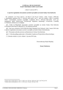 UCHWAŁA NR XLVII/452/2017 RADY MIEJSKIEJ GÓRY KALWARII z dnia 21 czerwca 2017 r. w sprawie regulaminu utrzymania czystości i porządku na terenie Gminy Góra Kalwaria
